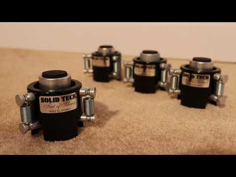 Solid Tech Feet Of Silence Review Isolator Absorber Vibroisolation Youtube