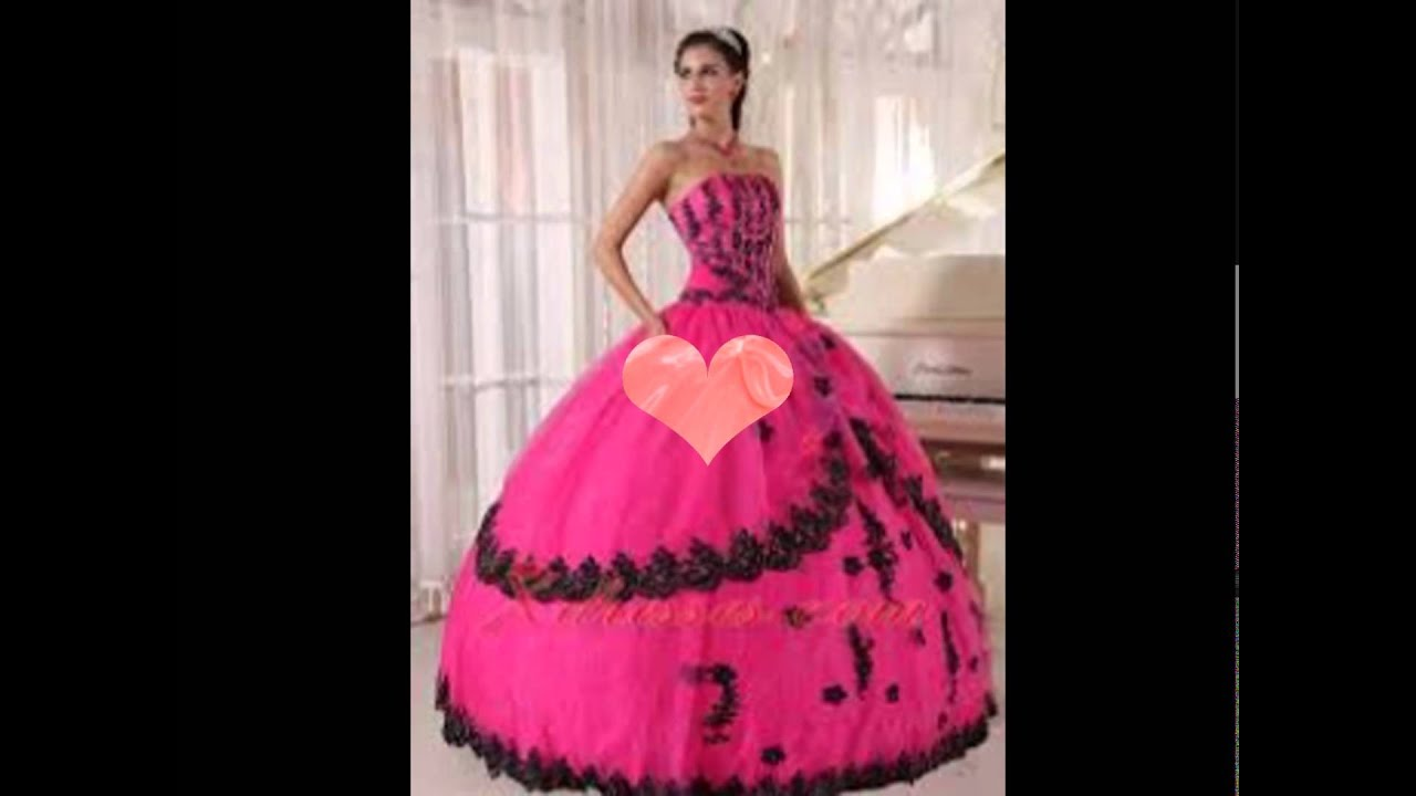 los vestidos de 15 mas bonitos - YouTube