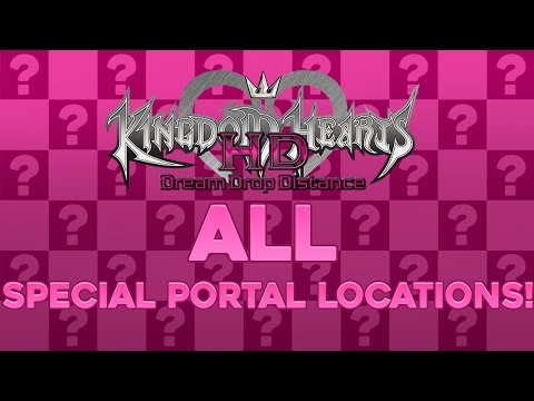 Kingdom Hearts Dream Drop Distance HD - ALL Special Portal Locations Guide!