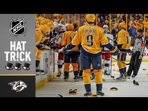 Filip Forsberg's fifth NHL hat trick