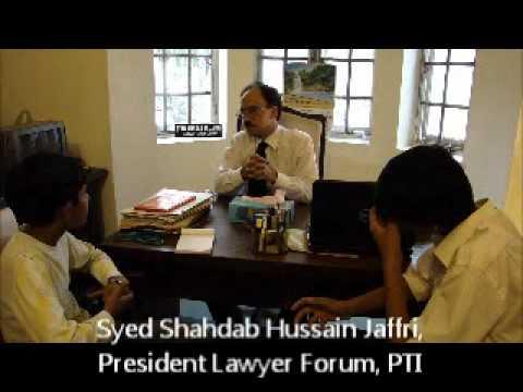 President Lawyer Forum, PTI Mr. Shahdab Hussain Jafferi - VES TV