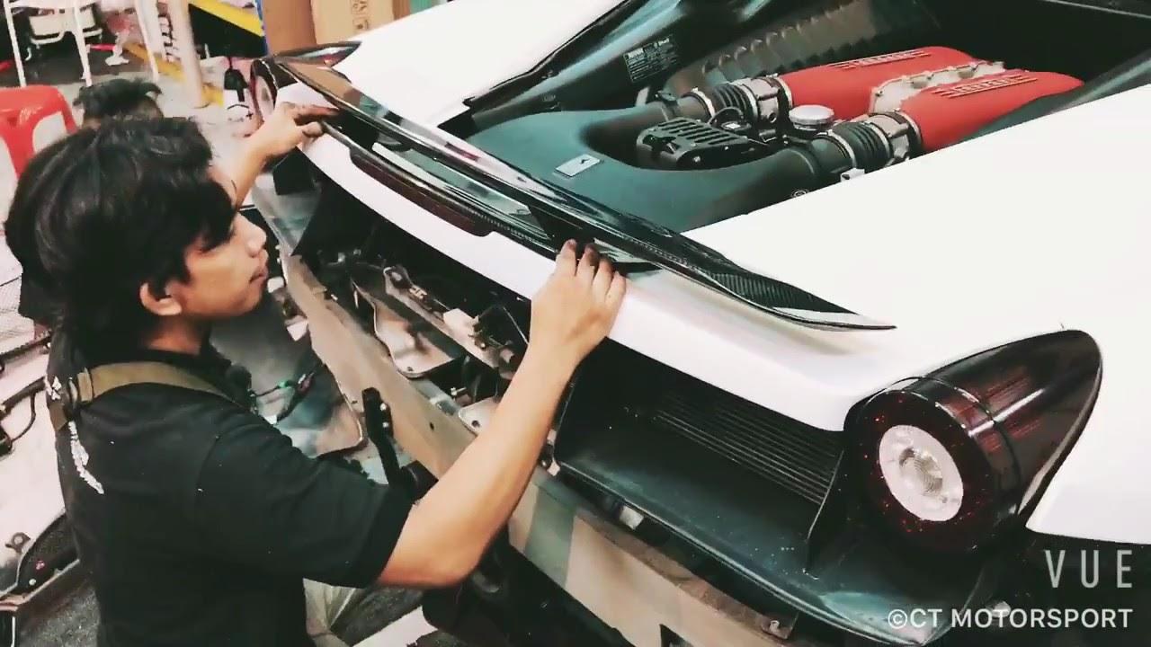 Ferrari 458 Italia Carbon Fiber Rear Spoiler Youtube