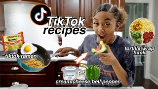 Testing Viral Tik Tok Food Hacks pt. 2  TikTok Recipes You NEED to Try  LexiVee