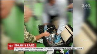 """У """"Борисполі"""" службовий собака виявив валізу з 5 кг кокаїну"""