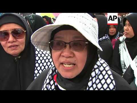 Protest in Jakarta ahead of opening up US Embassy in Jerusalem