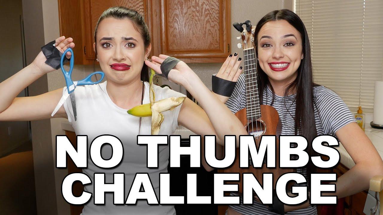 No Thumbs Challenge Merrell Twins Youtube