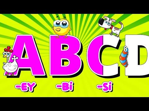 İngilizce Alfabe Şarkısı (ABC Alphabet Song)| Alpi ve Arkadaşları Çocuk Şarkıları