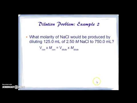 Dilution & Neutralization Problems