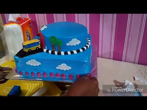 Tutorial Membuat Kue Ultah Tayo