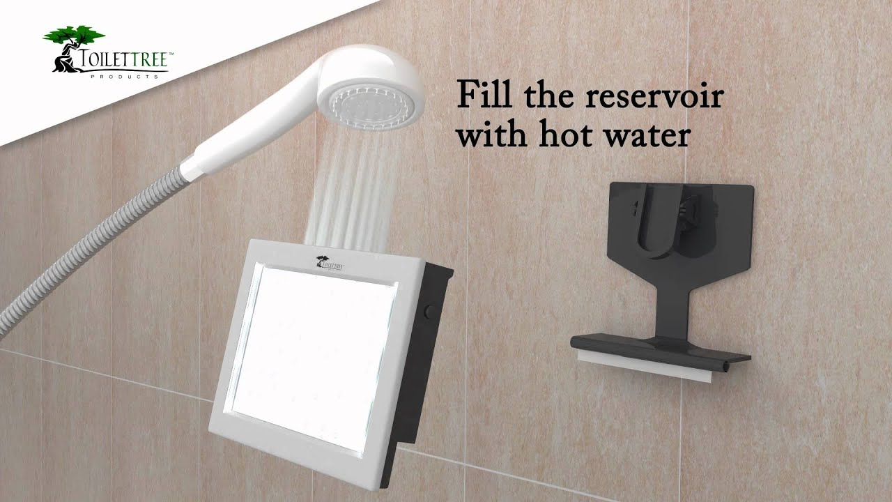 201362 - Pivoting Fog Free LED Shower Mirror - YouTube