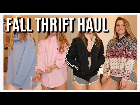 FALL THRIFTING HAUL AND TRY ON