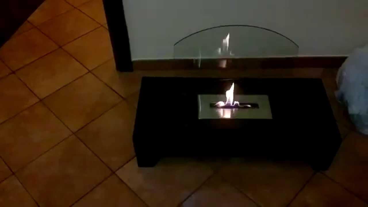 Come Funziona Caminetto Camino Bioetanolo Youtube