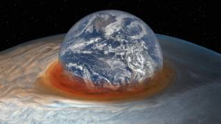 Great Red Spot Eats Earth! [ to scale ]