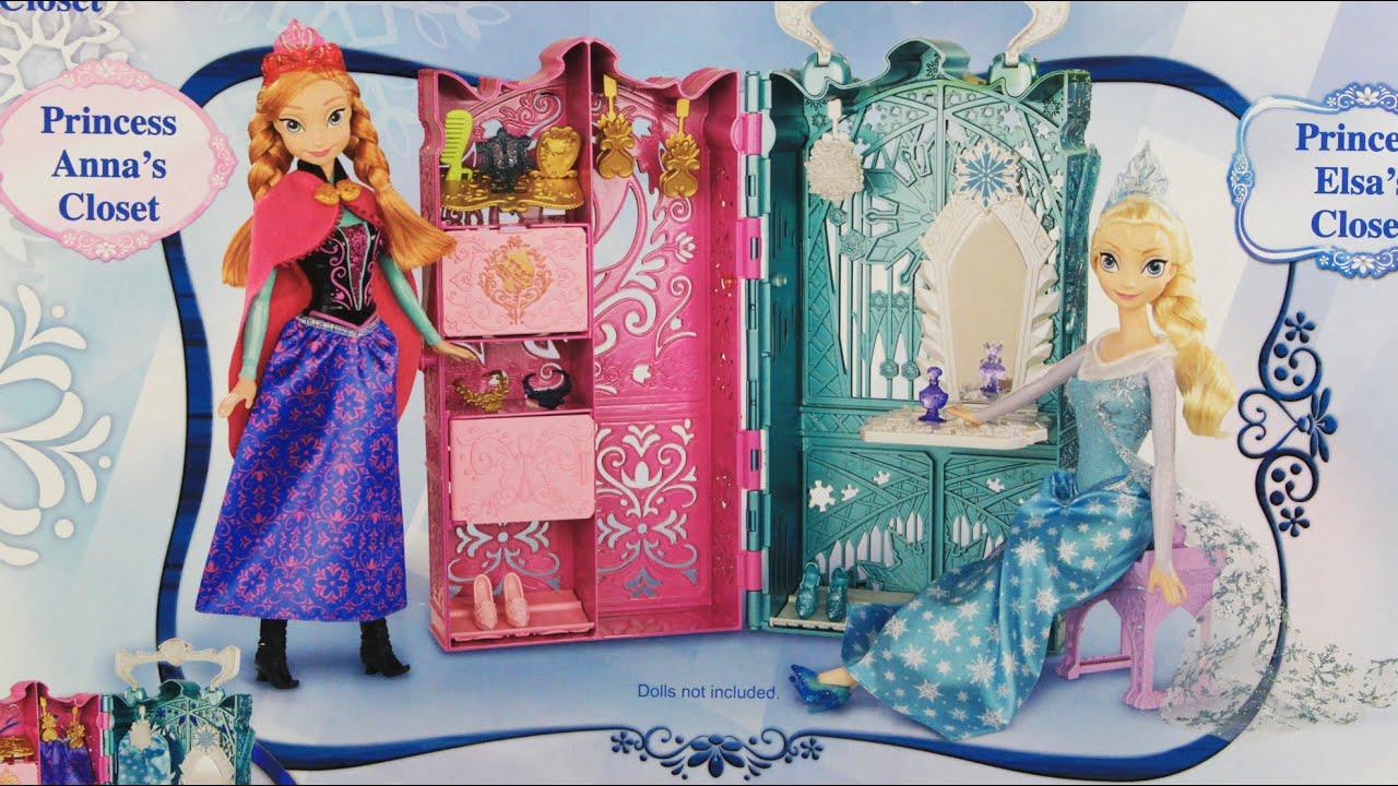 Dual Vanity Playset Krolewska Garderoba Elzy I Anny Frozen
