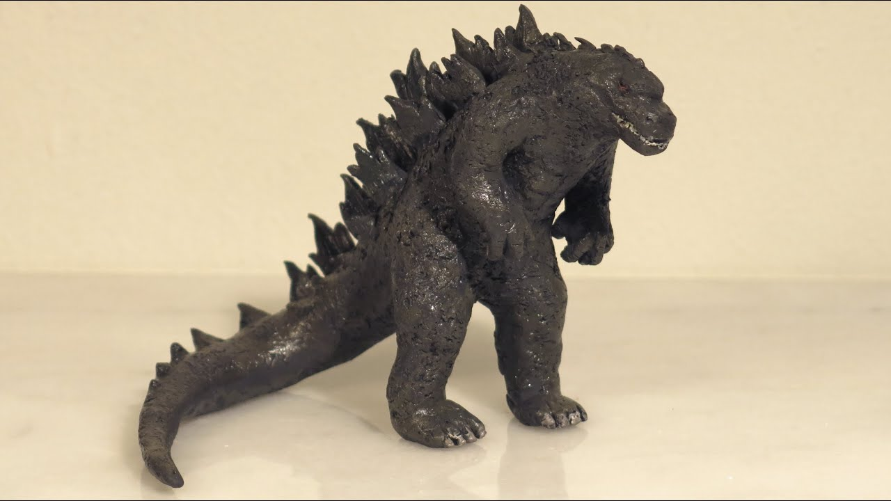 How To Make Godzilla Polymer Clay Godzilla 2014 Youtube
