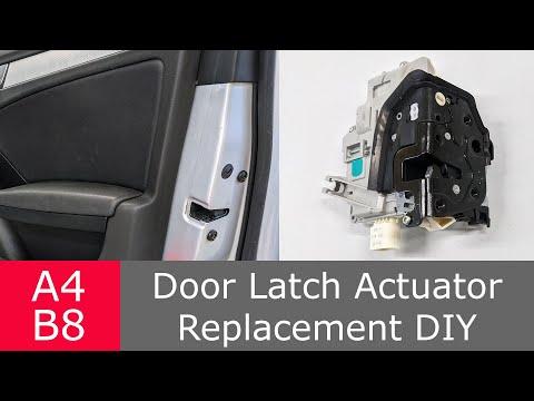 Door lock actuator replacement A4 B8   How to DIY Audi VW