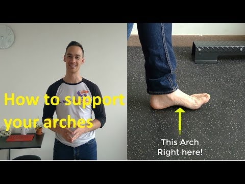 Flat feet exercise to increase arch height and reduce foot pain
