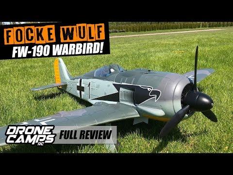 Focke Wulf FW-190 Warbird - MAIDEN, CRASH, FLIGHTS & REVIEW!
