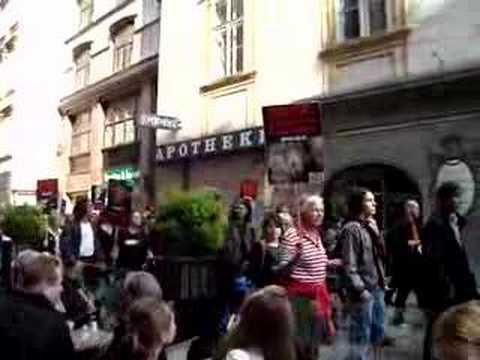 Vienna Vegetarian Protest against Meat Production