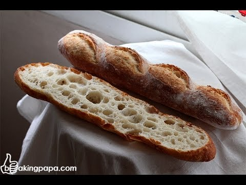 Bakingpapa- Baguette with Poolish 폴리쉬로 만드는 바게트 - YouTube