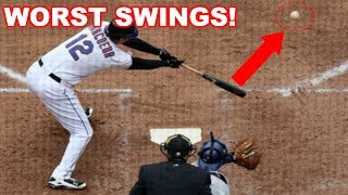MLB | WORST SWINGS! (HUMILIATING) | 1080p HD