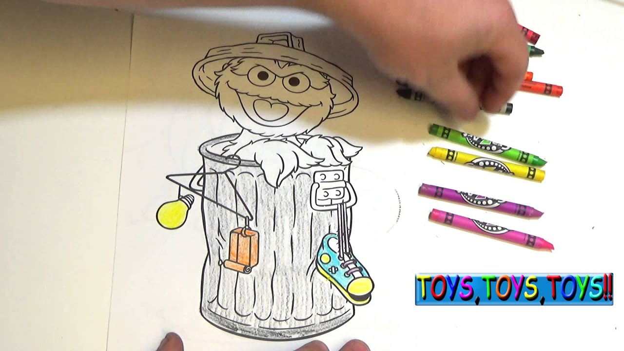 sesame street coloring book oscar the grouch kids fun with