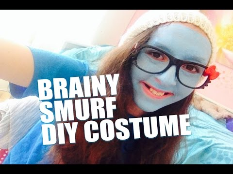 Easy diy do it yourself no sew halloween costume brainy smurf easy diy do it yourself no sew halloween costume brainy smurf solutioingenieria Images