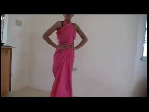 How to make a dress -no sew - YouTube