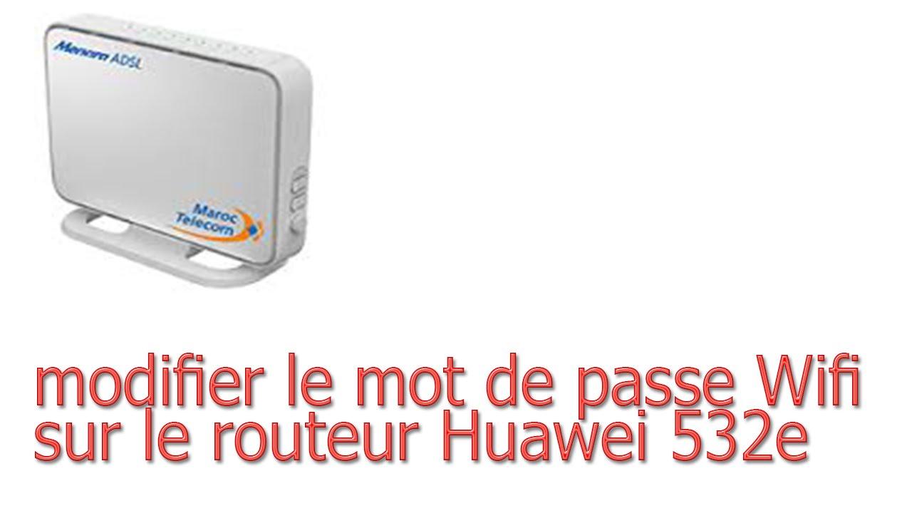 routeur huawei hg 532e comment changer mot de passe wifi youtube. Black Bedroom Furniture Sets. Home Design Ideas