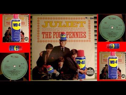 Clean the Vinyl-WD40  (The Four Pennies - 67y.)- ЭКСПЕРИМЕНТ - часть -2