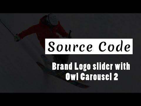 Brand Logo Slider with owl carousel 2 ( Source Code )