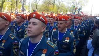 Парад победы 2016 в Санкт-Петербурге.  Молодцы ребята и девчата! Аж дух захватывает!