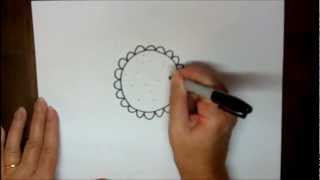 How To Draw A Sunflower Step By Step Cartoon Easy Drawing Lesson
