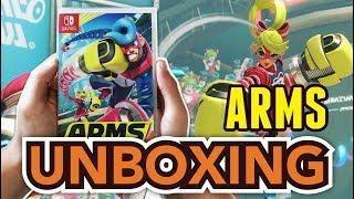 (Gomu Gomu No) ARMS (Nintendo Switch) Unboxing !!