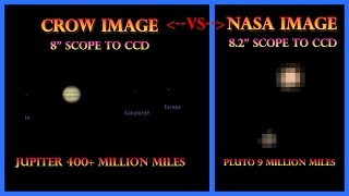 Crow Images vs NASA Images - Pluto is Only at Disneyland