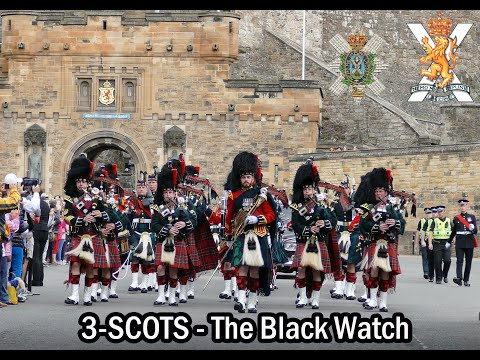 The Black Watch parade the Royal Mile Edinburgh [4K]