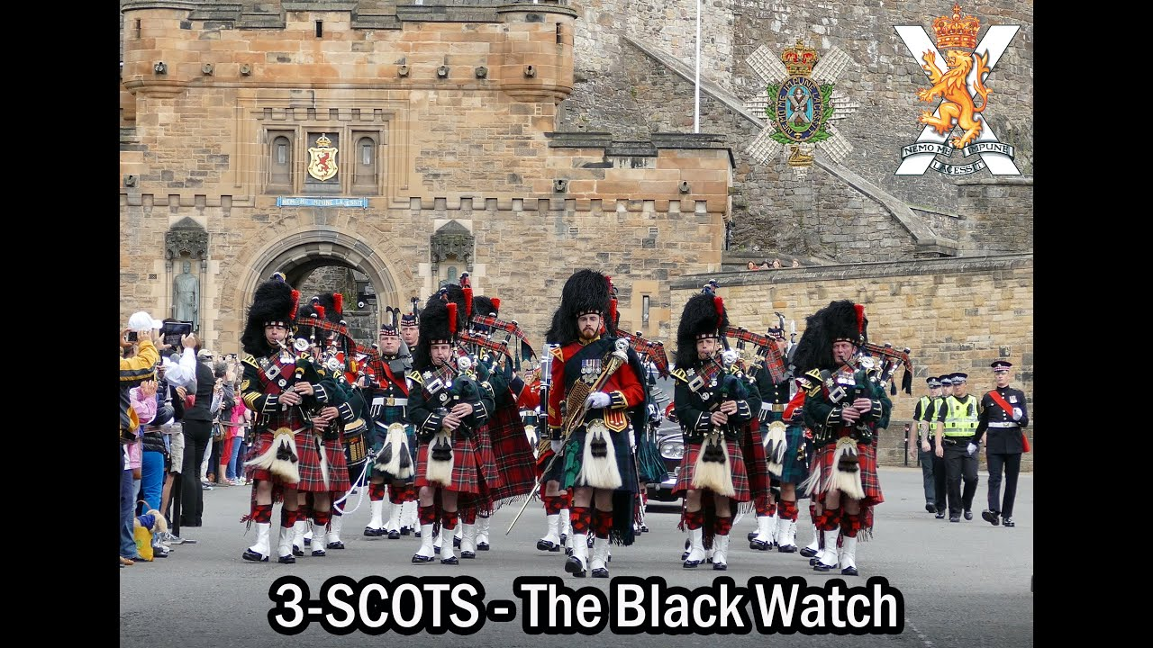 The Black Watch Parade The Royal Mile Edinburgh 4K YouTube