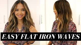Easy Flat Iron Waves | Soft Effortless Curls