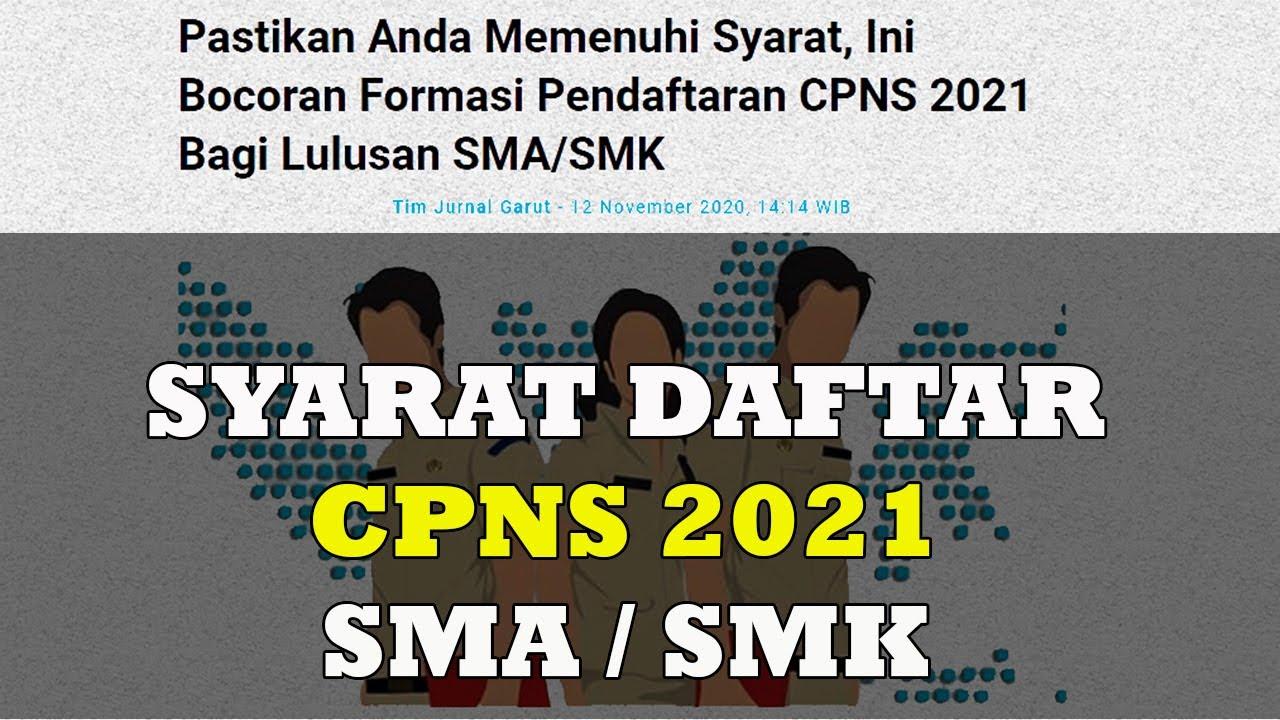 38++ Cara daftar cpns 2021 lulusan sma information