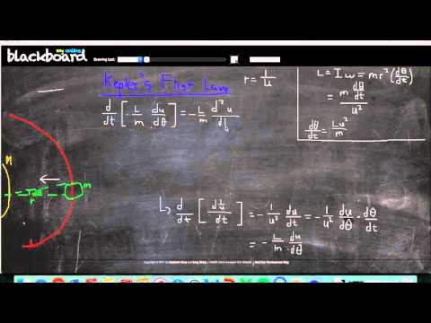 Math and Physics: Derivation of Kepler's First Law
