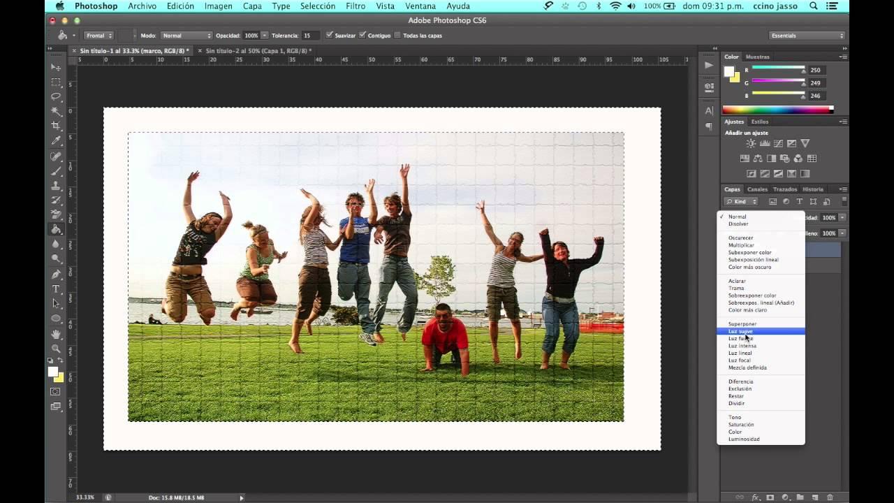 Como crear bordes alrededor de una imagen en Photoshop - YouTube