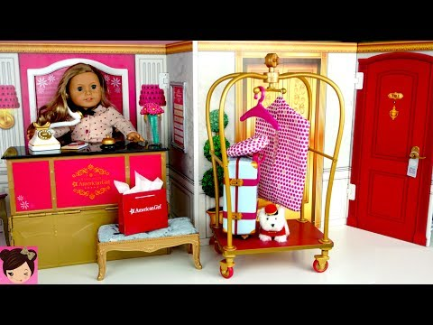 Toy Hotel Play Set -  Doll Bedroom Bathroom | American Girl Grand Hotel Full Collection