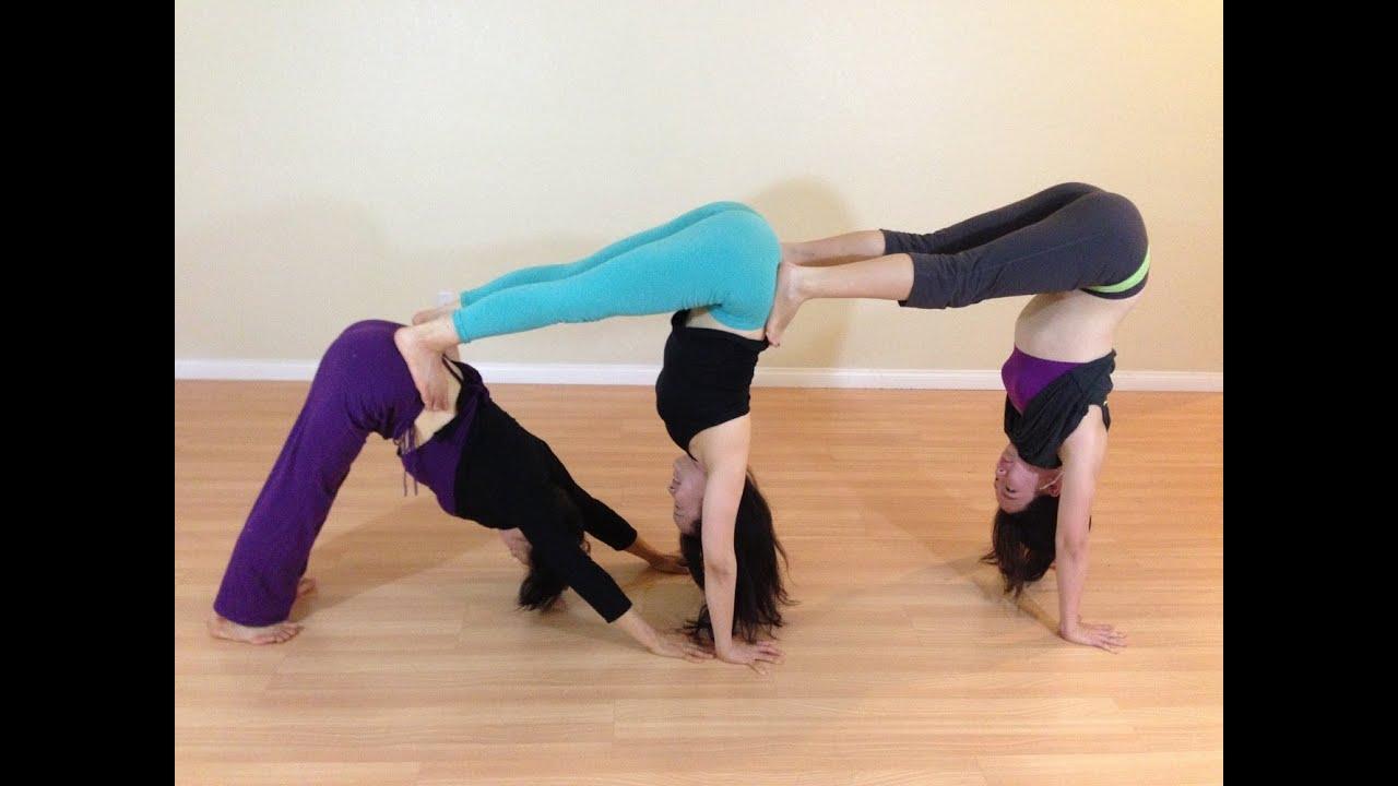 Family Yoga Three Generation Partner