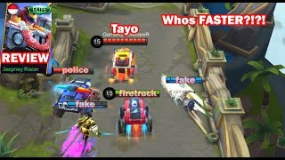 Johnson New Skin vs Epic vs Normal Skin + Gameplay Jeepney Racer Mobile Legends