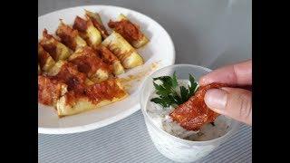 Лучшая закуска из кабачков со сметанным соусом! Рецепты из кабачков