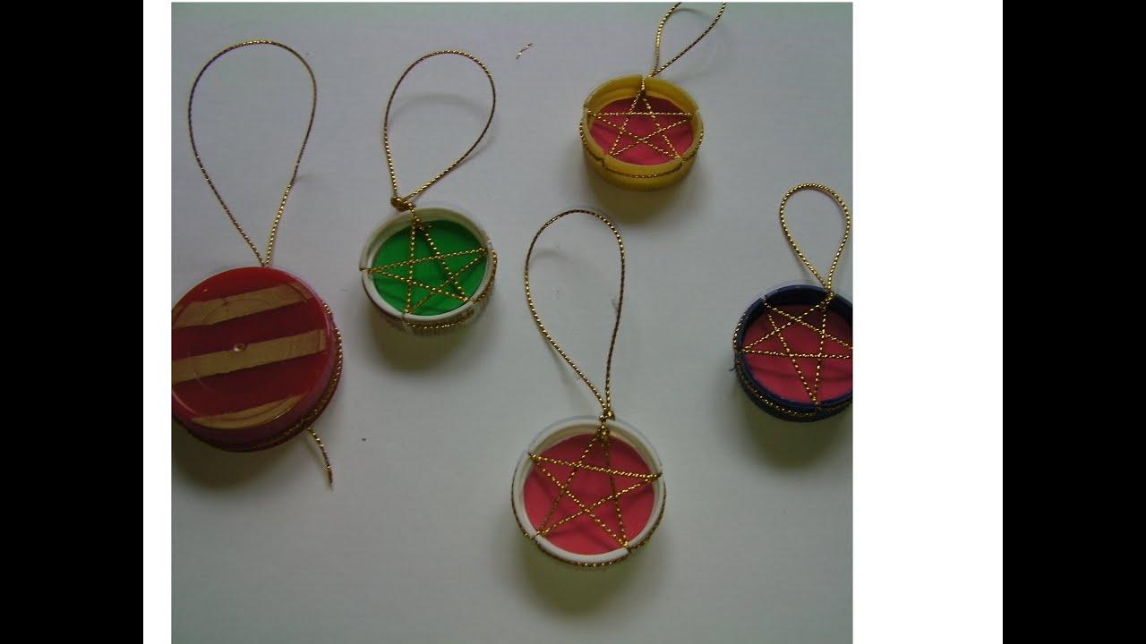 Diy adornos de navidad reciclados recycled christmas ornaments youtube - Adornos navidad reciclados para ninos ...