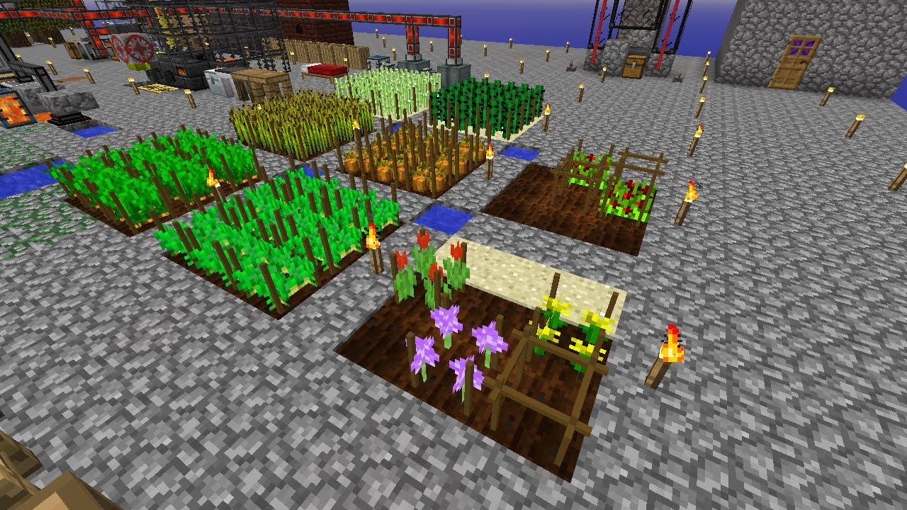 S08E18 Skyblock - Agricraft! and Ore, Redstodendron, and Diamahlia plants!  by Stoo42