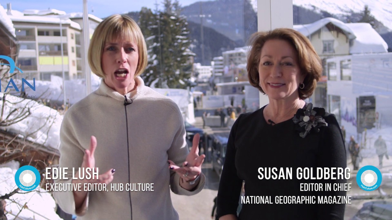 Hub Culture Davos 2019 - Susan Goldberg of National Geographic Magazine