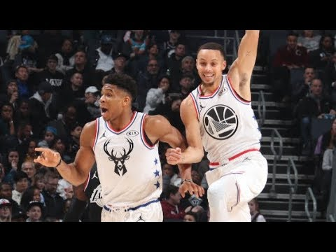 Steph's INSANE Bounce Pass Alley-Oop To Giannis!   2019 NBA All-Star