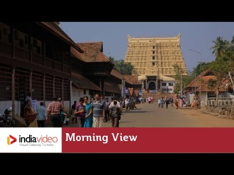 Morning View of Sree Padmanabhaswamy temple